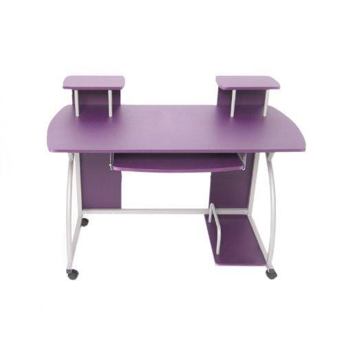 Jugend-Schreibtisch Computertisch Bürotisch Ohio, ca 90x115x55cm ~ lila günstig bestellen