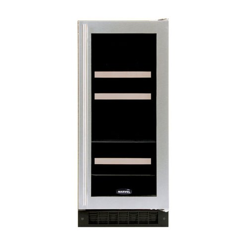 4 Bottle Dual Zone Wine Refrigerator Finish: Black Cabinet With Overlay Door, Hinge Location: Left