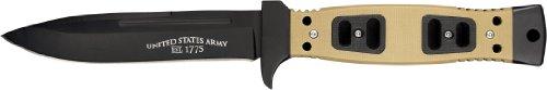 U.S. ARMY A-1004TS Fixed Blade Knife, 9.5-Inch, Tan