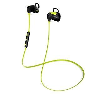 Casque de Sport Bluetooth 4.1 Mpow Etanche stéréo écouteurs intra-auriculaires sans fil Oreillette avec AptX (CVC suppression de bruit 6.0, appels mains libres, micro intégré) 18 mois garantie pour iPhone 6 6s 6 plus, Android et Windows Smartphone/ Tablettes et d'autres Appareils Bluetooth