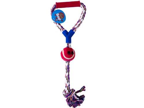 Kole KI-OC197 Jumbo Pull Rope Dog Toy with Ball, One Size