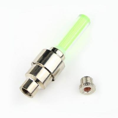Chopmall(TM) 2pcs Green LED Flash Tyre Wheel Valve Cap Light for Car Bike Bicycle Motorbicycle Wheel Light Tire Light