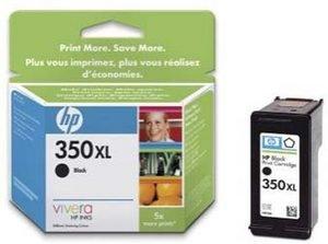 CB336EE#UUS - HP 350XL Druckpatrone schwarz mit Vivera Tinte HP 350XL Black Ink Cartridge