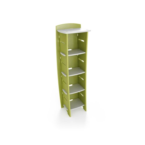 Legare 59-Inch-by-18-Inch Kids' Bookcase, Green and White