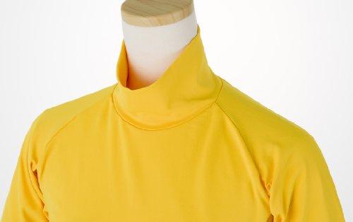 99.3% UVカット ショート丈 日焼け防止 首が凄く長い ハイネック インナーシャツ テニス ゴルフ ラン M レモンイエロー Onta well