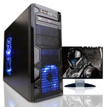 Microtel Computer® AM7066 Gaming Computer with AMD 3.4GHz Phenom II X4 965, 16GB DDR3 1333Mhz, 2TB Hard Drive 7200RPM, Blu-Ray Drive, Radeon HD 7750 1GB GDDR5 Video Card, 120GB SSD, 700Watt PS, 12-in-1 Card Reader, Microsoft Windows 8 Full Version CD - 64 bit + WiFi