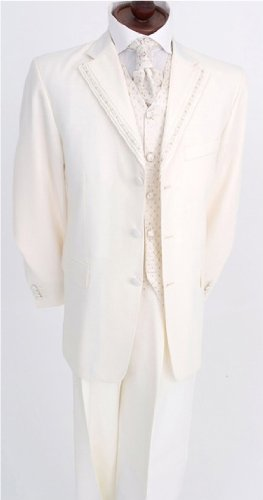 Mens new ivory dress cream wedding suit suits outfit 34 36 38 40 42 44 46 48 50 52 54