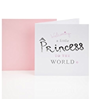 Little Princess Baby Girl Greetings Card