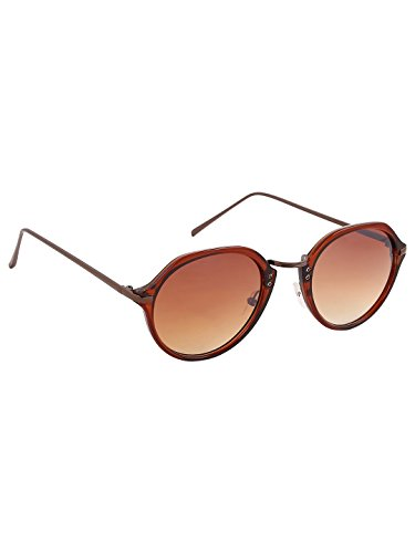 Olvin Unisex Brown Oval Sunglasses (OL333-02)