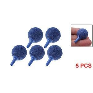Como 5PCS Blue Aquarium Air Stones Mini Round Air Bubble Creator