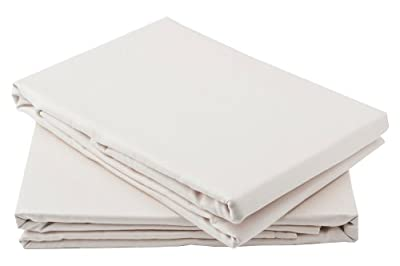Percale Fitted Sheet 4ft Three Quarter Bed Size Small Double Cream