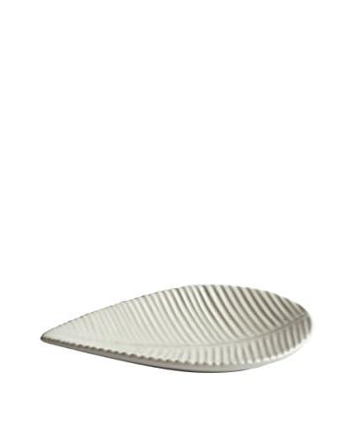 Sobremesa Leaf Plate, White