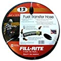 """Fill-Rite FRH07512 Hose with Static Wire and Internal Spring Guards, 3/4"""" x 12' Length"""