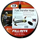 "Fill-Rite FRH07512 Hose with Static Wire and Internal Spring Guards, 3/4"" x 12' Length"