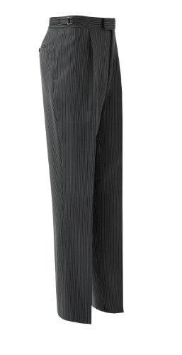 Brook Taverner Striped Trouser in Grey/Black Stripe 30L