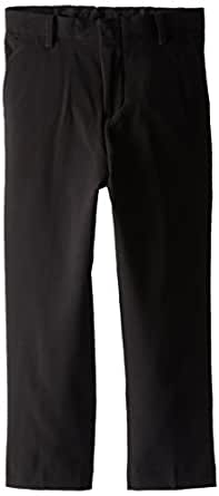 Calvin Klein Big Boys' Bi-Stretch Flat Front Pant, Black, 10