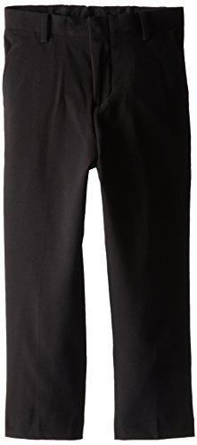 Calvin Klein Little Boys' Bi-Stretch Flat Front Pant, Black, 7 (Boys Black Pants compare prices)