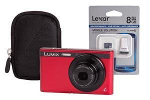 Panasonic Lumix DMC-XS1 - Red + Case and 8GB MicroSD Card (16.1MP Black Friday & Cyber Monday 2014