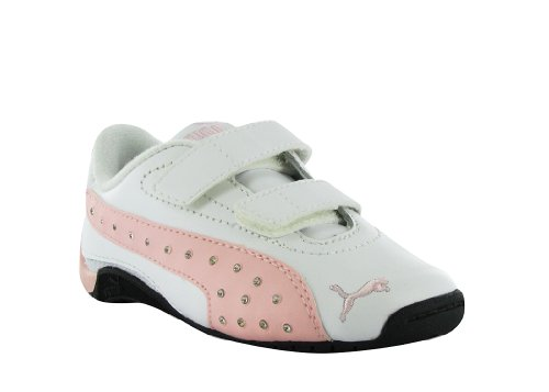 PUMA Toddler/Little Kid Drift Cat II Diamonds Hook-And-Loop Sneaker,White/Gossamer Pink,6 M US Toddler