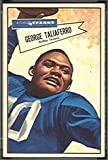 1952 Bowman Large (Football) Card# 89 George Taliaferro of the Dallas Texans VG Condition