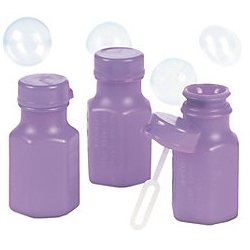 Lilac Hexagon Bubble Bottles - Novelty Toys & Bubbles