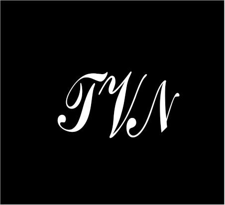 6-white-monogram-3-letters-tvn-initials-script-style-vinyl-decal-for-cup-car-computer-any-smooth-sur