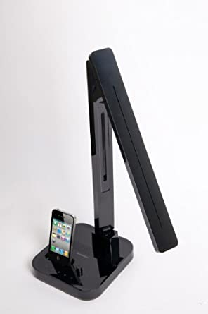 Softech-LED Multi-Function/iPod & iPhone Desk Lamp-BLACK