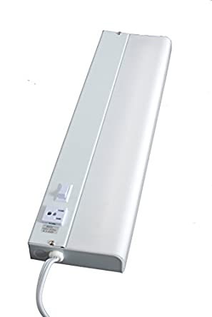 GE 16546 Advantage Fluorescent Light Fixture With Extra Outlet 18 Inch Amaz