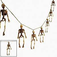 Dangling Skeleton Garland - Halloween Decoration from wd
