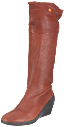 Softinos Women's Nadine Light Brown Knee High Boots P900092059 8 UK