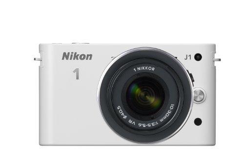 Nikon デジタル一眼カメラ Nikon 1 (ニコンワン) J1 (ジェイワン) 標準ズームレンズキット ホワイトN1 J1HLK WH