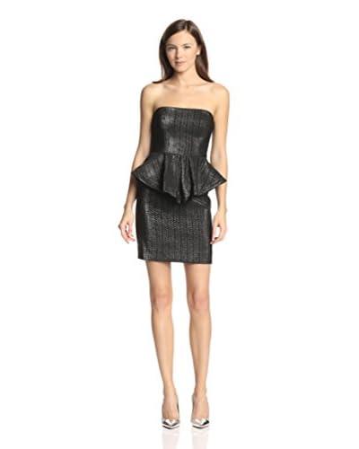 Nicole Miller Women's Strapless Peplum Dress