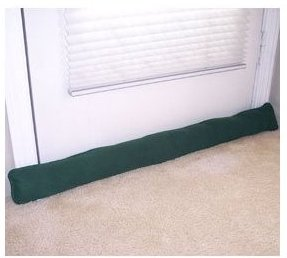 Draft Guard Door and window Draft Stopper --Hunter Green