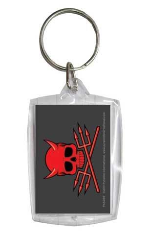Skullduggery Devil - 5 cm Acrylglas Schlüsselanhänger Keyring