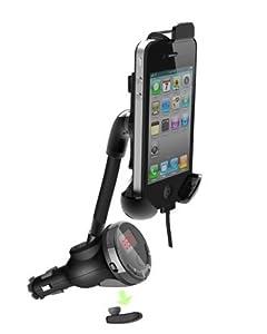 Mobiletto PREMIUM Autohalterung mit FM-Transmitter und Bluetooth Headset für iPhone 4/4S, iPhone 5/5S, HTC ONE, Samsung Galaxy S4, BlackBerry Z10, Nokia, Sony, LG und alle anderen Smartphones