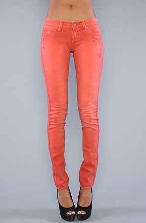 RVCA The RVCA Nova Colors Skinny Pant in Cherry,Pants for Women