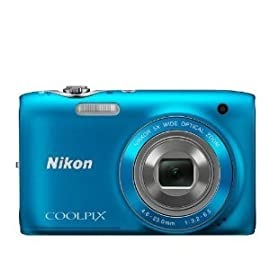 Nikon Coolpix S3100 Digital Camera (Blue)