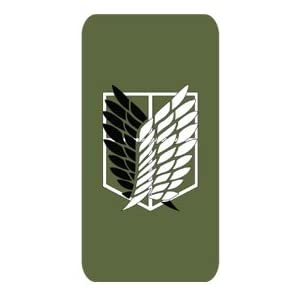 進撃の巨人 紋章 風 iPhone5 ケース カバー フィルム付/進撃 巨人 エレン リヴァイ ミカサ OPA (緑)