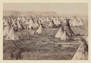 Southern Cheyenne Wigwams 20x30 poster