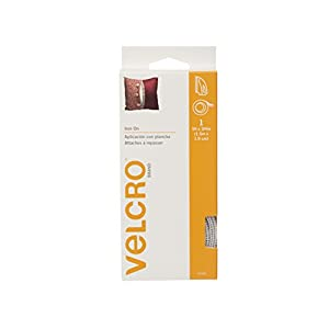 "VELCRO Brand  - Iron On - 5' x 3/4"" Tape - White"