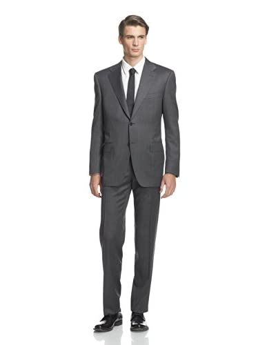 Canali Men's Two Button Textured Drop 6 Suit