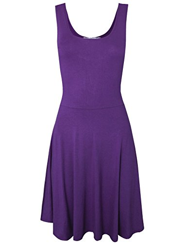 Tom's Ware Women Trendy Slim Fit Sleeveless Flare Mini Dress TWCWD066