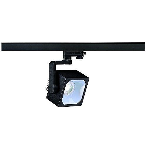 SLV LED 3-Phasen Strahler Euro Cube, 28,5W, 4000K, 30 Grad, inklusiv Adapter, schwarz 152770