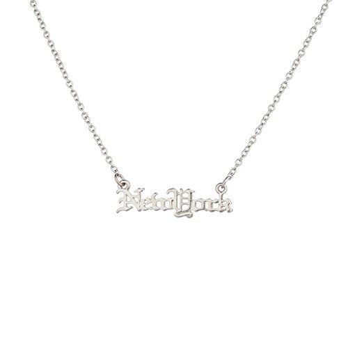 lux-zubehor-silvertone-new-york-namensschild-halskette