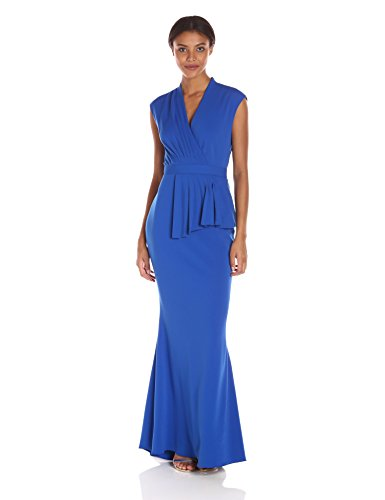 Badgley-Mischka-Womens-Wrap-Front-Draped-Gown