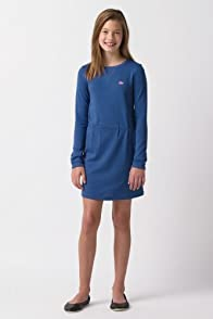 Girl's Long Sleeve Crewneck Sweatshirt Dress with Neon Croc