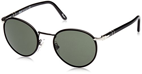 Persol PO2422SJ Sunglasses-986/31 Shiny Black (Green Lens)-49mm
