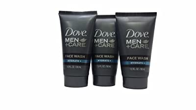 Dove Men + Care Face Wash Hydrate 1 OZ (3 Pack)