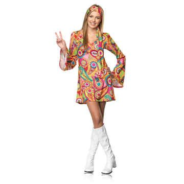 Hippie Chick Costume - Teen Medium/Large (Hippie Dress Up)