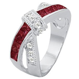 T24 32727ZGH Women's Friendship Promise Love Knot Ring Garnet (7)